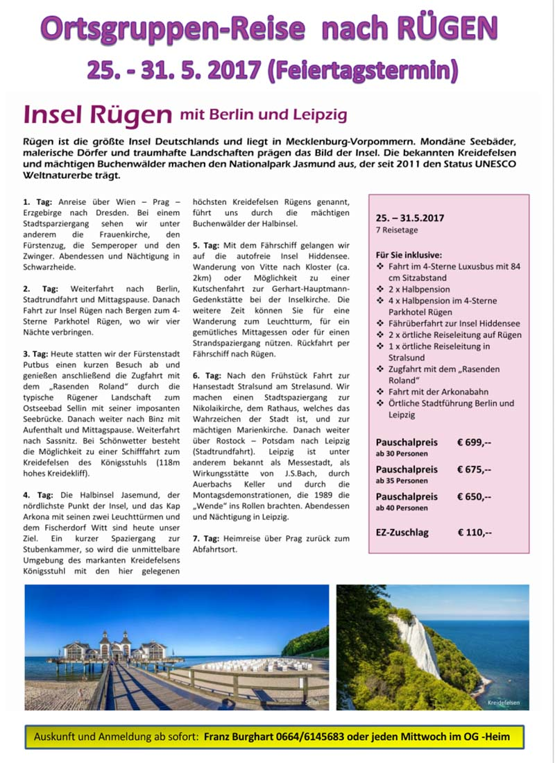 OG Reise Rügen